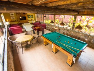 Área de Lazer Jogos Pebolim Sinuca diversão com crianças Hotel Pousada Águas de Bonito MS