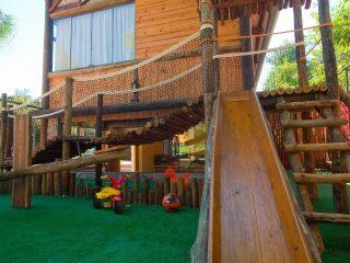 Área de Lazer Playground Hotel com área para crianças em Bonito MS Brinquedoteca Childrenplayroom
